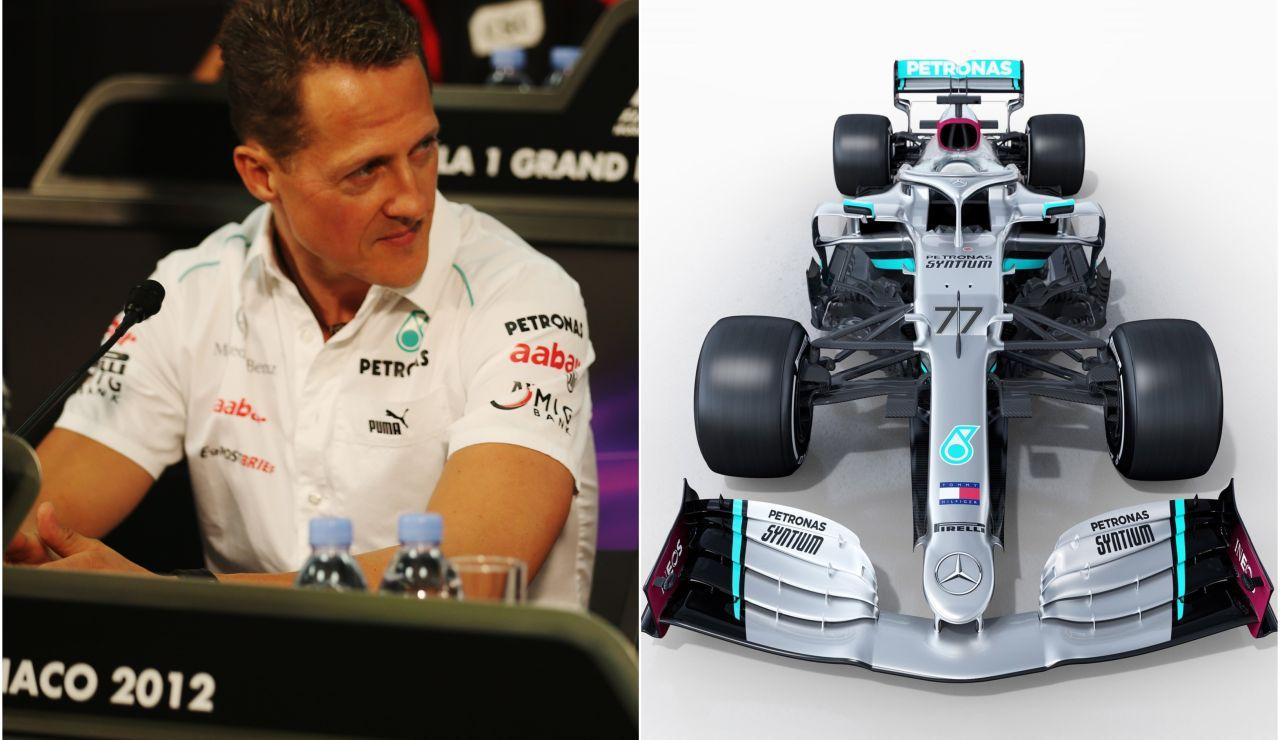 Mercedes recuerda los logros de Schumacher durante la presnetación