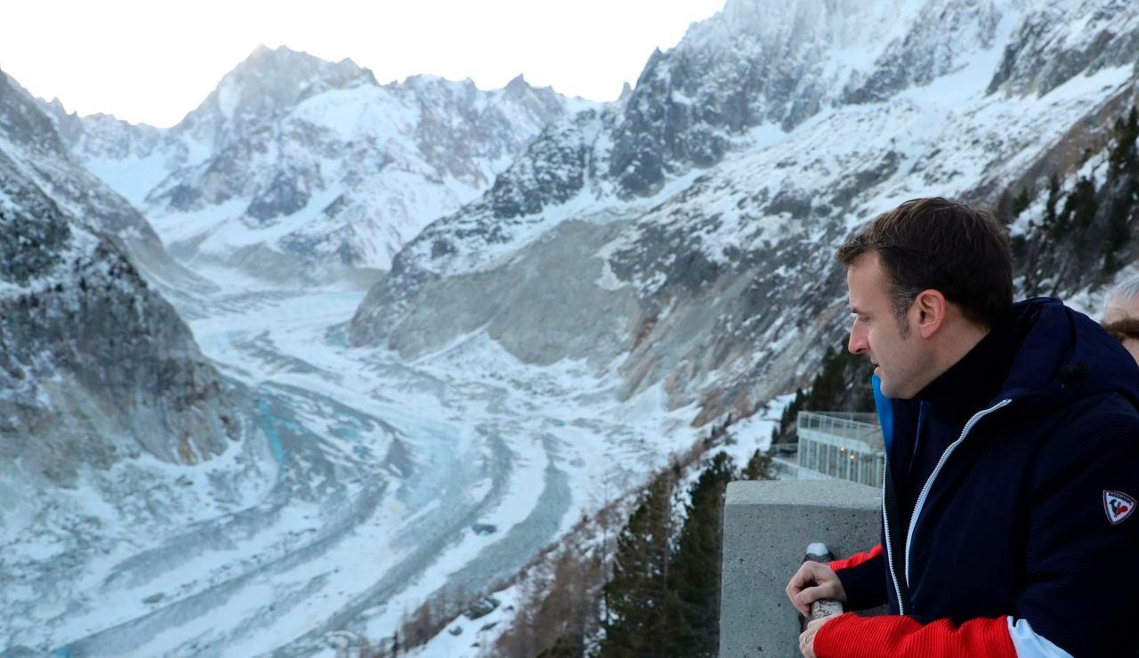 Emmanuel Macron en el Mont Blanc