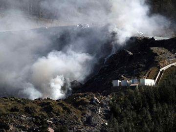 El vertedero de Zaldivar, en llamas
