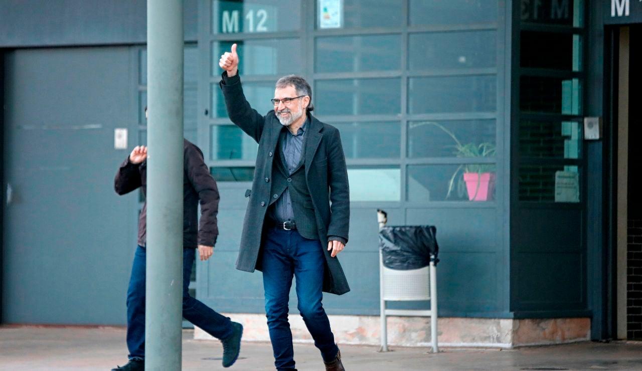 Jordi Cuixart tras salir de prisión