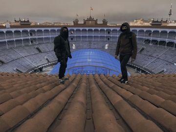 Allprex y su compañero en lo alto de Las Ventas