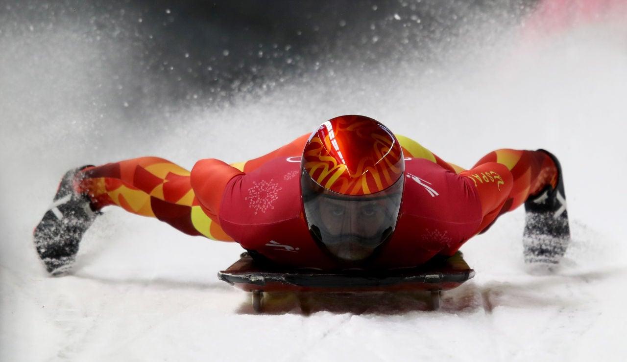 Ander Miranbell logra el primer campeonato de España de skeleton
