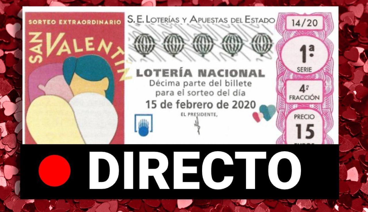 Sorteo Extraordinario de San Valentín 2020: Resultado de la Lotería Nacional hoy, en directo