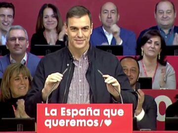 Comparecencia de Pedro Sánchez en Madrid