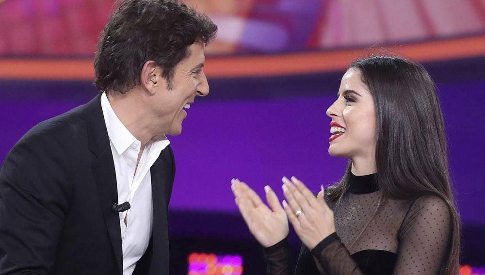 Manel Fuentes se despide de una bailarina de 'Tu cara me suena'