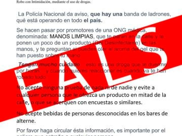 El comunicado falso
