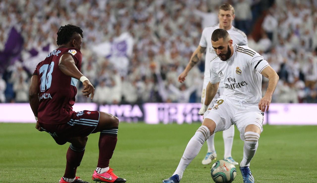 Karim Benzema, ante el Celta de Vigo