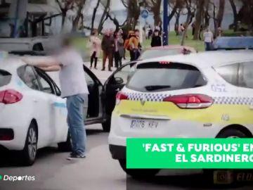 'Fast & Furious' en Santander, un aficionado y un hincha discuten antes de un partido
