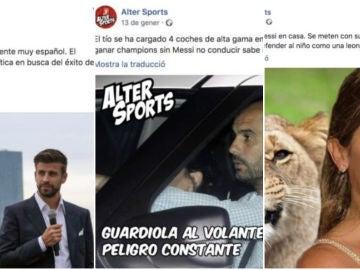 Algunas de las publicaciones sospechosas de ser orquestadas por el FC Barcelona