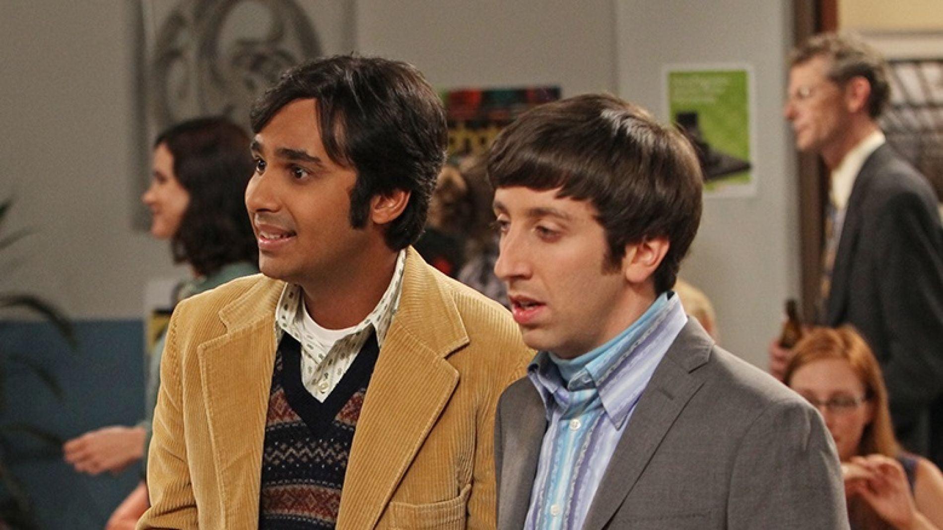 Kunal Nayyar y Simon Helberg como Raj y Howard en 'The Big Bang Theory'