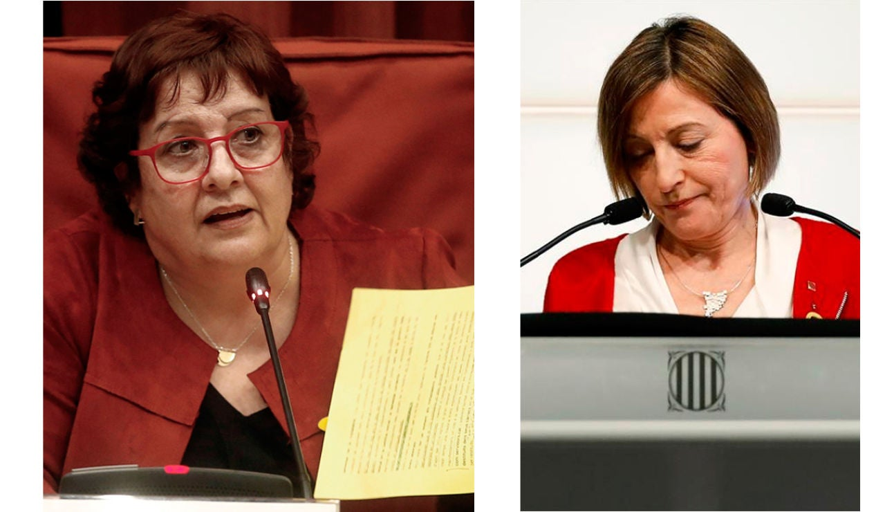 La exconsejera Dolors Bassa y la expresidenta del Parlament, Carme Forcadell