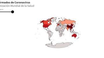 Mapa evolución coronavirus