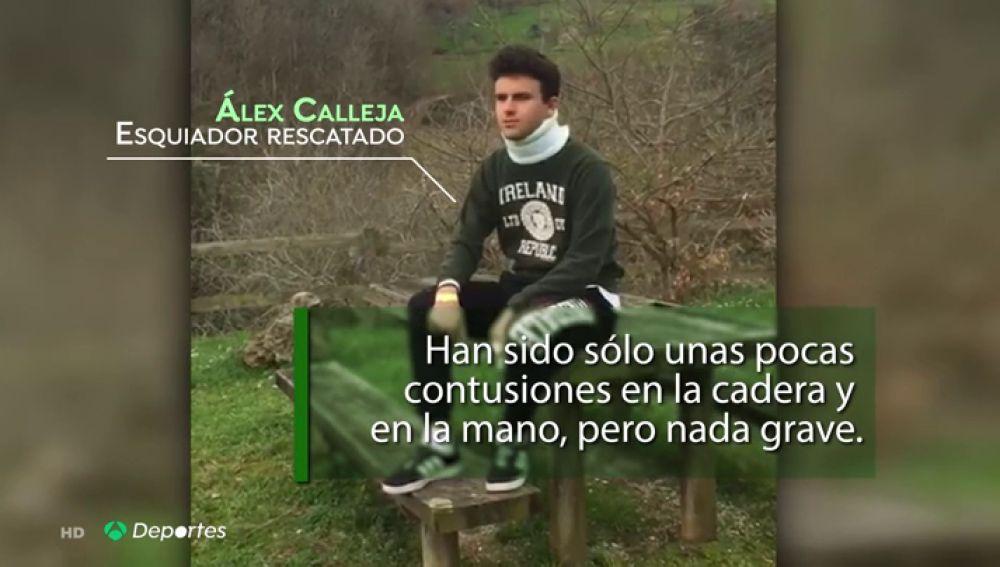 """Antena 3 Deportes habla con el esquiador rescatado en el Sotres Ski Tour: """"Me vi cayendo 20 o 30 metros sin poder frenarme"""""""