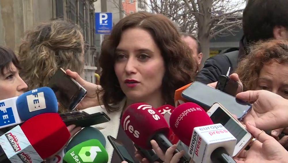 Isabel Diaz Ayuso denuncia un conspiración para acabar con la comunidad autónoma de Madrid y llama 'paletos' a los independentistas