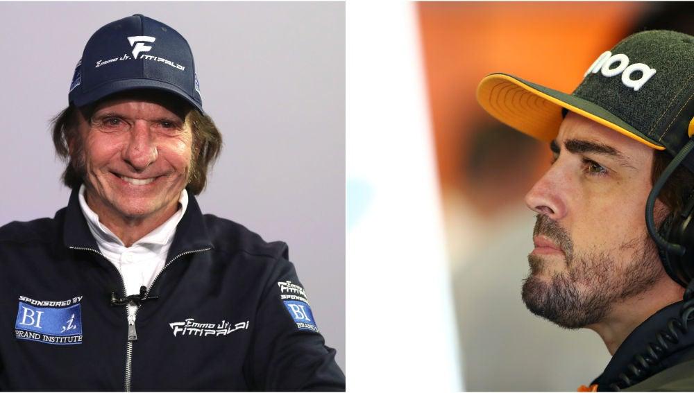 Emerson Fittipaldi y Fernando Alonso