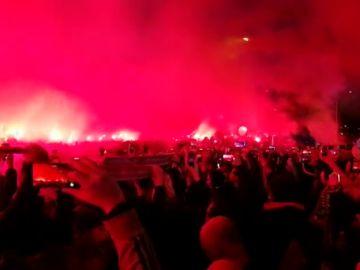 """Simeone: """"Empezamos a ganar en la llegada al estadio, no vi ese recibimiento en 8 años"""""""