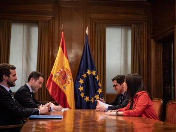 Reunión PP-Ciudadanos para las elecciones de País Vasco y Galicia