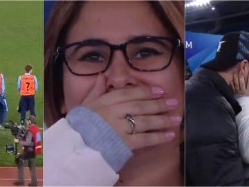 La pedida de mano ante el Lazio-Inter