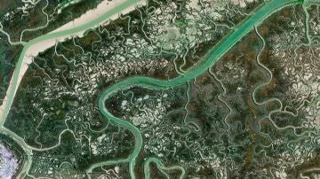 Meandros del río Guadiana en Ayamonte (Huelva).