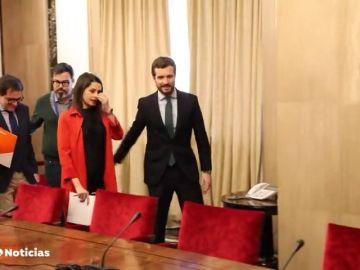 Pablo Casado e Inés Arrimadas acercan posturas para presentarse juntos, pero el problema sigue en Galicia