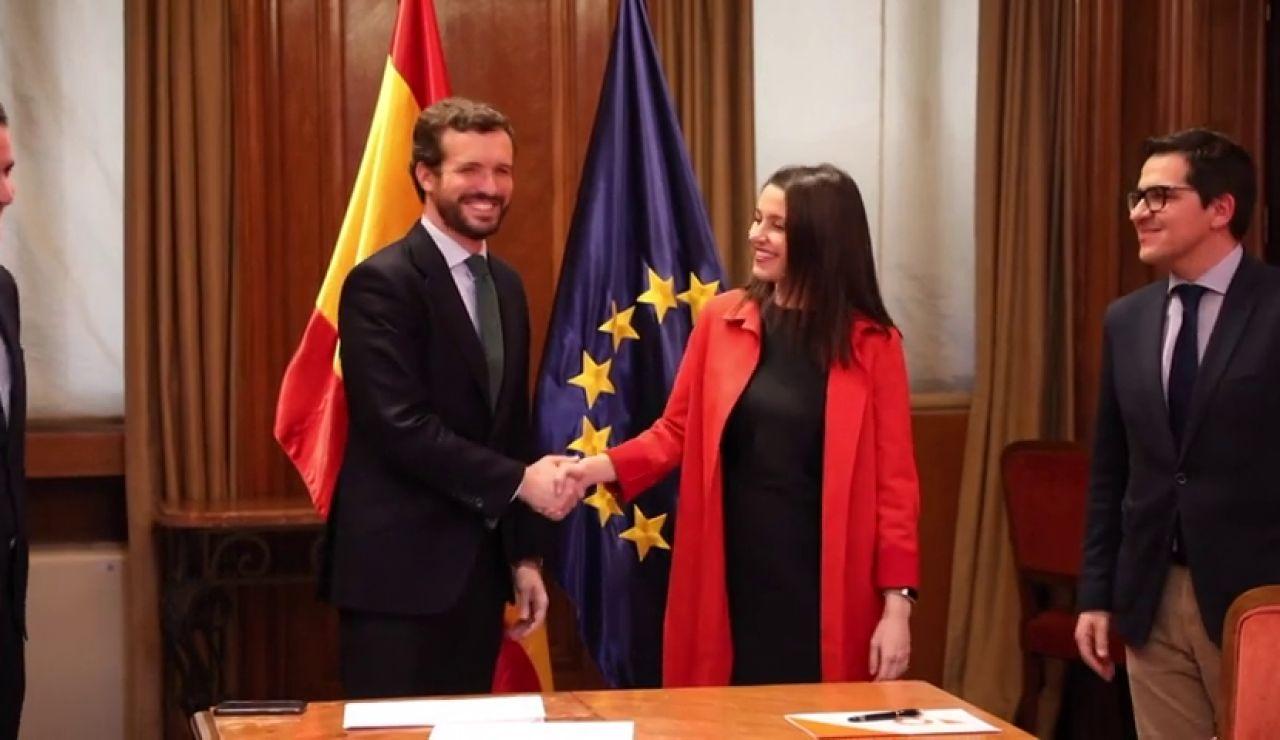 Pablo Casado e Inés Arrimadas