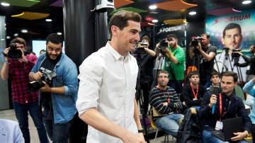 Iker Casillas durante un acto publicitario
