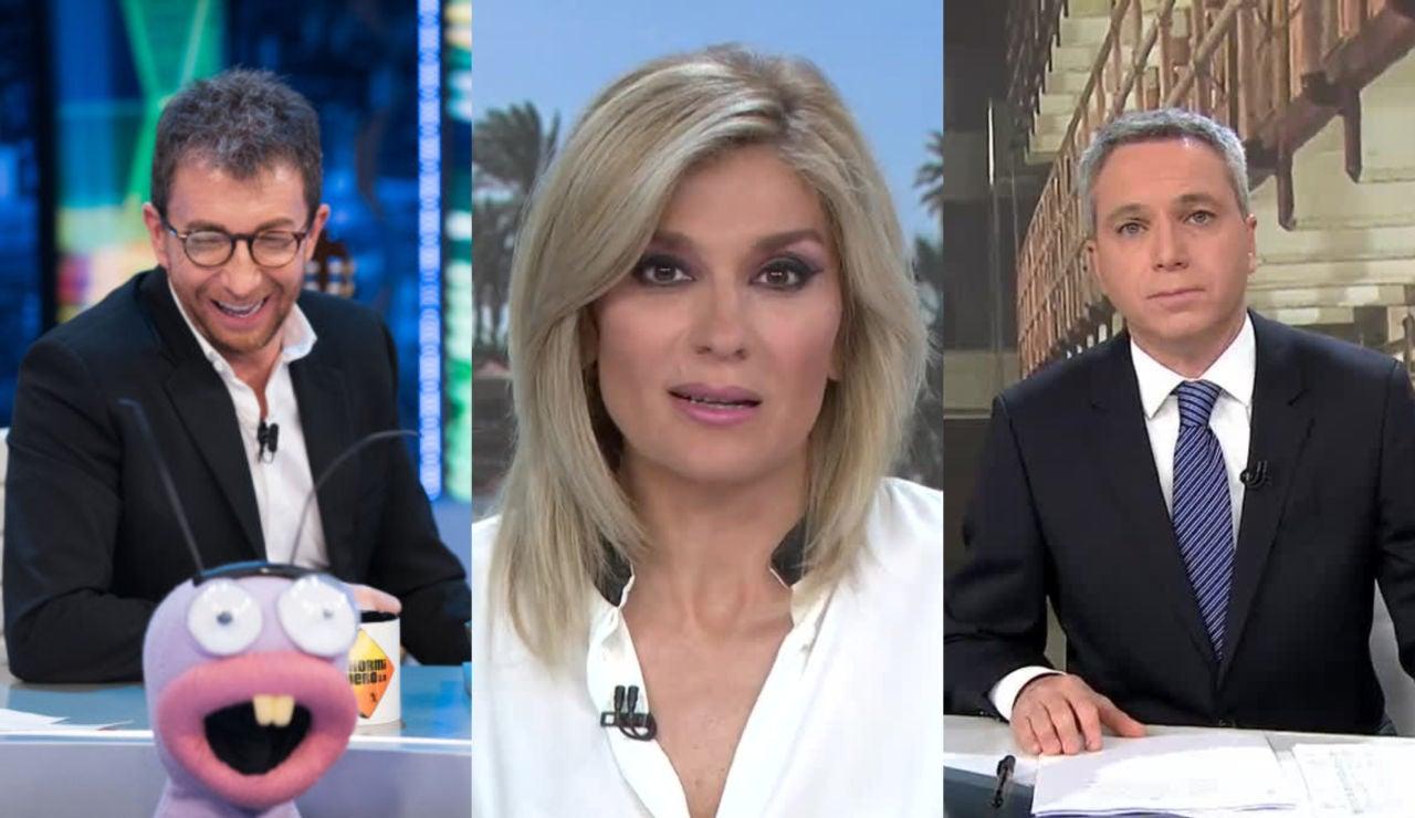 Pablo Motos, Sandra Golpe y Vicente Vallés