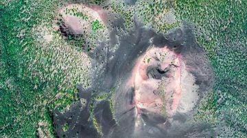 Paisaje volcánico en la isla de La Palma (Santa Cruz de Tenerife).