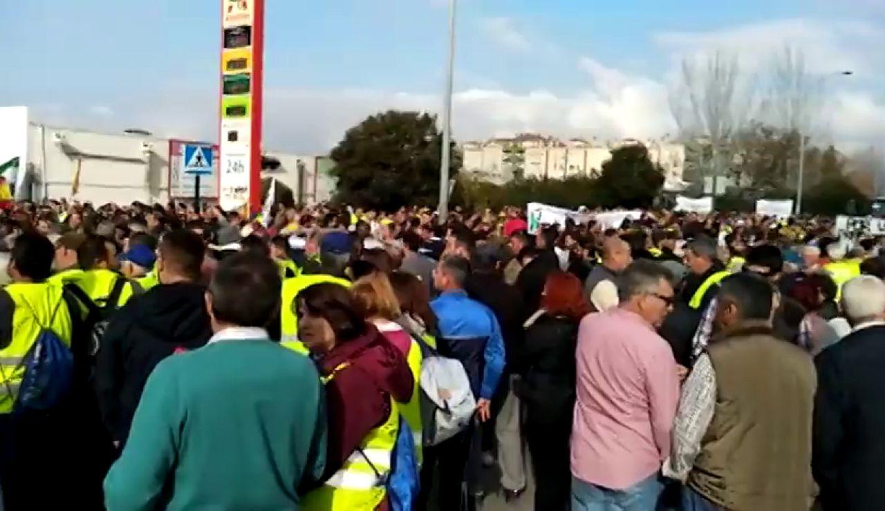 REEMPLAZO:Los agricultores 'aprietan' contra el gobierno de coalición, como pide Iglesias, y se movilizan en Granada, A Coruña y Navarra