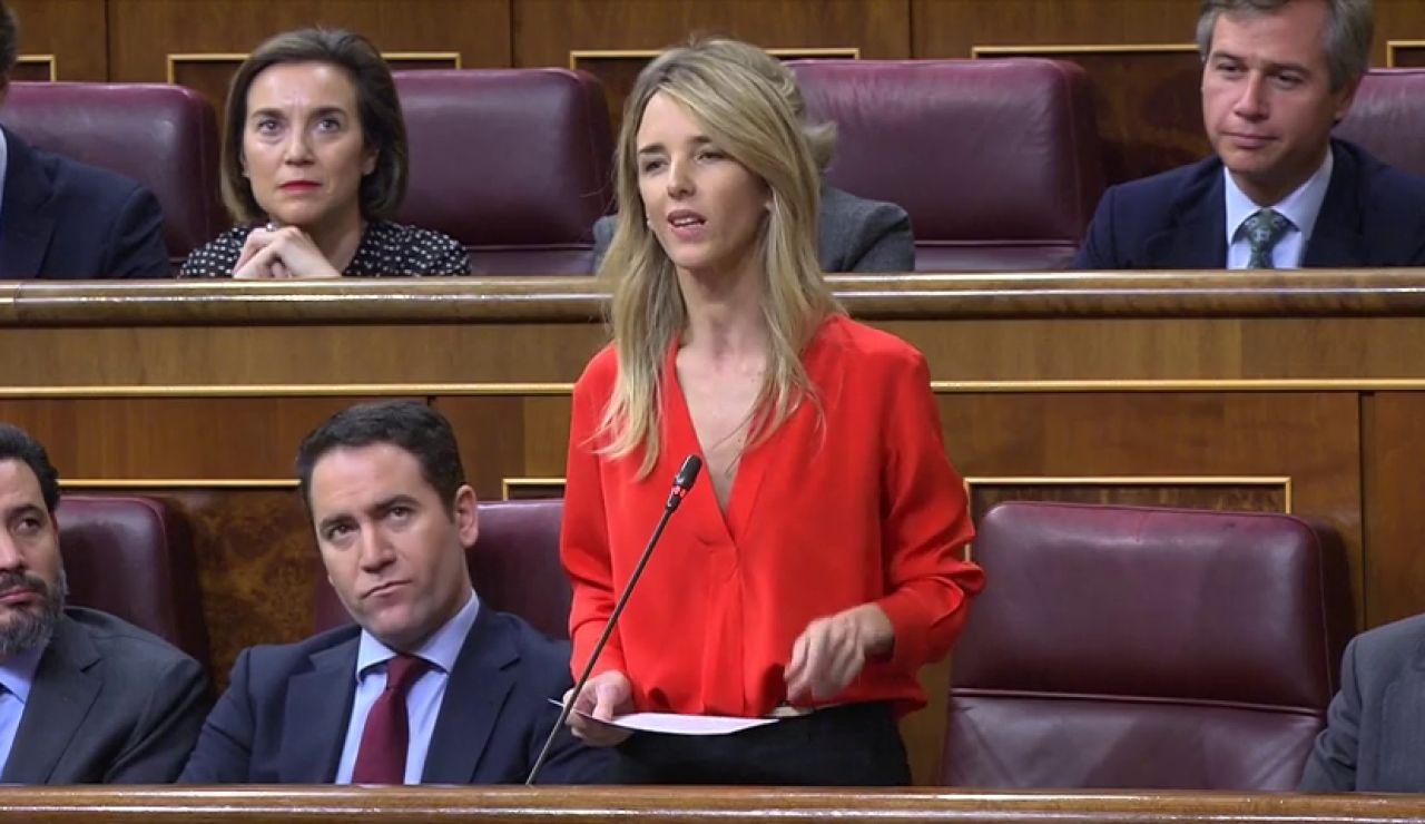Duro rfirafe entre la vicepresidenta Carmen Calvo y la portavoz del PP Cayetana Álvarez de Toledo que acusa al gobierno de promover una amnistía a los presos del 'procès'