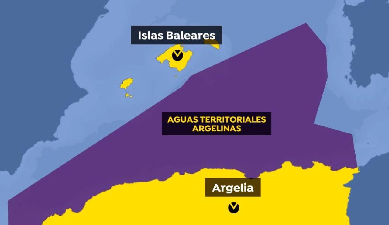Aguas territoriales argelinas