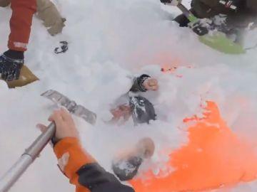 Rescate de una esquiadora en Verbier