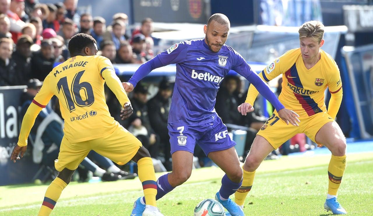 Braithwaite en un partido frente al FC Barcelona
