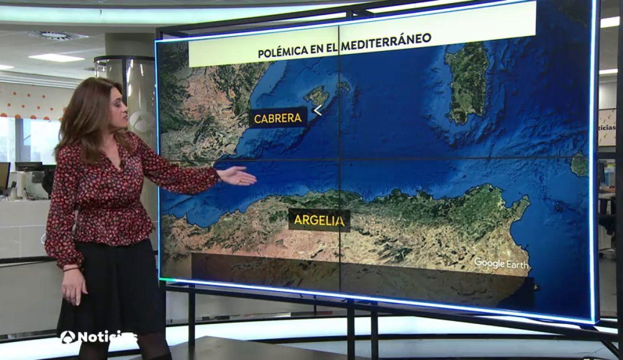 Argelia amplía sus aguas hasta llegar a la costa de Baleares