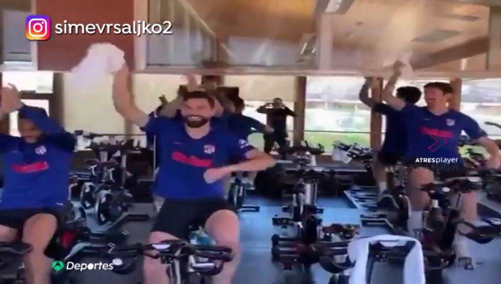 El polémico vídeo de la 'fiesta' del Atlético tras la victoria que ha borrado Vrsaljko
