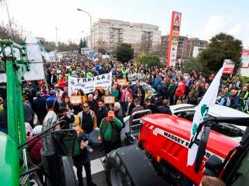 Protestas de agricultores y ganaderos en Granada