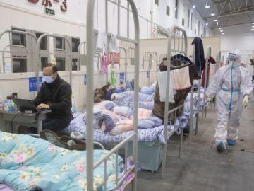 Hospital de China con afectados del coronavirus