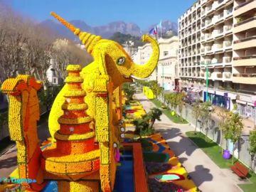 Las increíbles imágenes del festival del cítrico francés de la Costa Azul