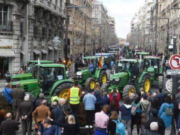 Protesta de los agricultores en Granada