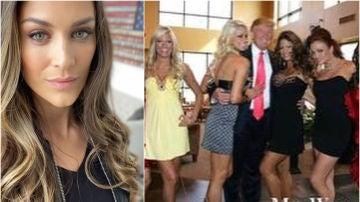 Trump sale agarrando de la cintura a la ex campeona de la WWE Eve Torres