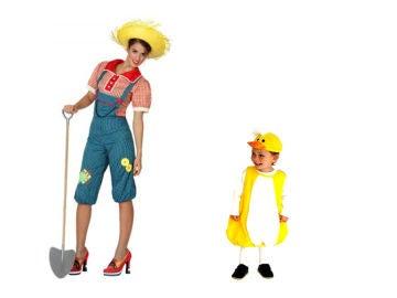 Disfraz de granjera y su pollito