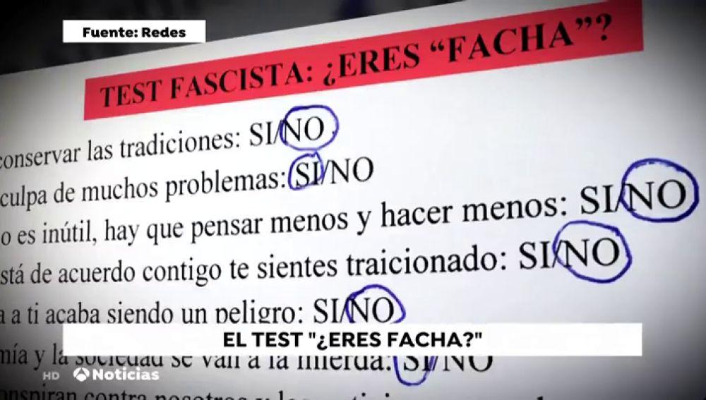 Un padre denuncia un test realizado en un instituto asturiano para saber si eres facha