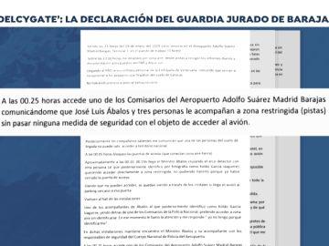 La declaración del vigilante jurado de Barajas que presenció el 'Delcygate´¨