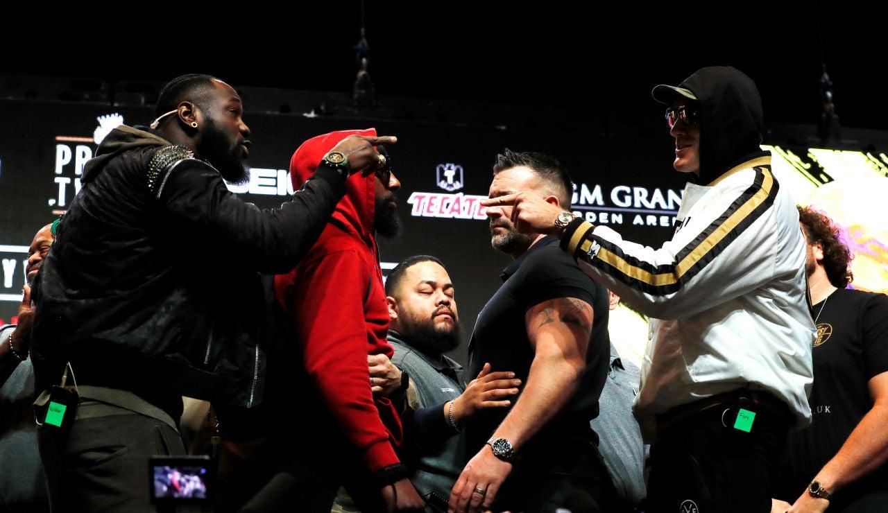 Cara a cara entre Wilder y Fury en Las Vegas