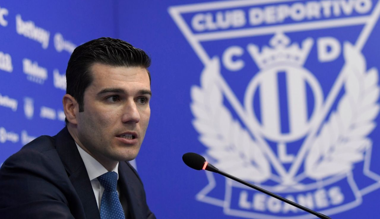 Martín Ortega, director general del CD Leganés