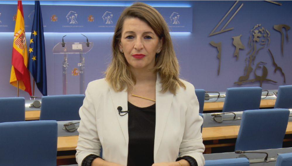 La ministra Yolanda Díaz