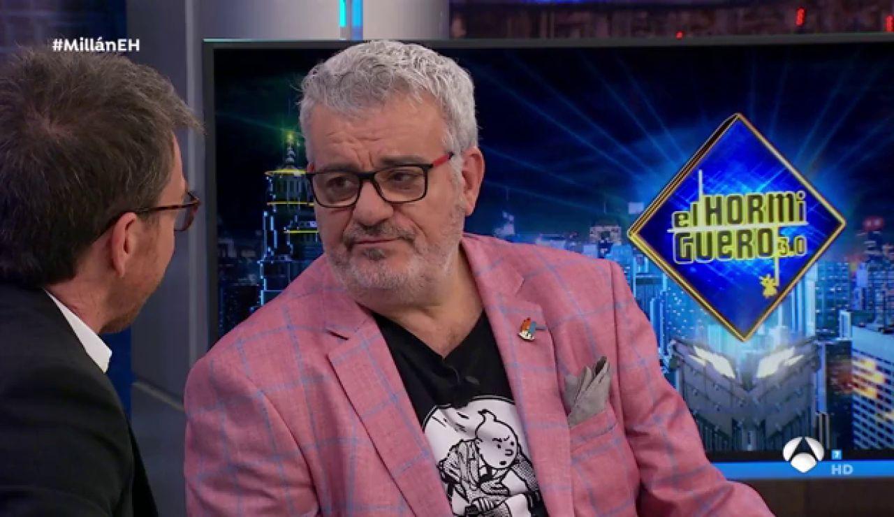 Millán Salcedo denuncia en 'El Hormiguero 3.0' un episodio con un periodista cuando estaba hospitalizado