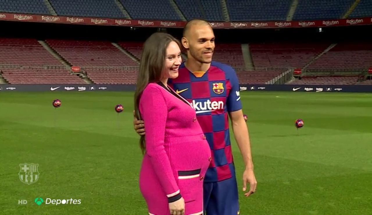 """Braithwaite, en su presentación con el Barcelona: """"Soy físico, rápido, fuerte e inteligente"""""""