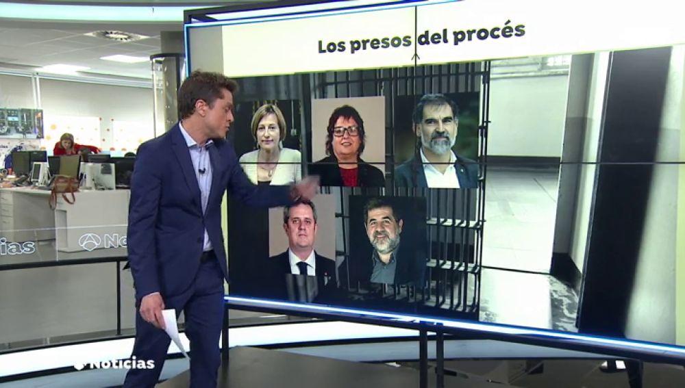 ¿Cuántos de los nueve condenados por el 'procés' siguen en prisión?