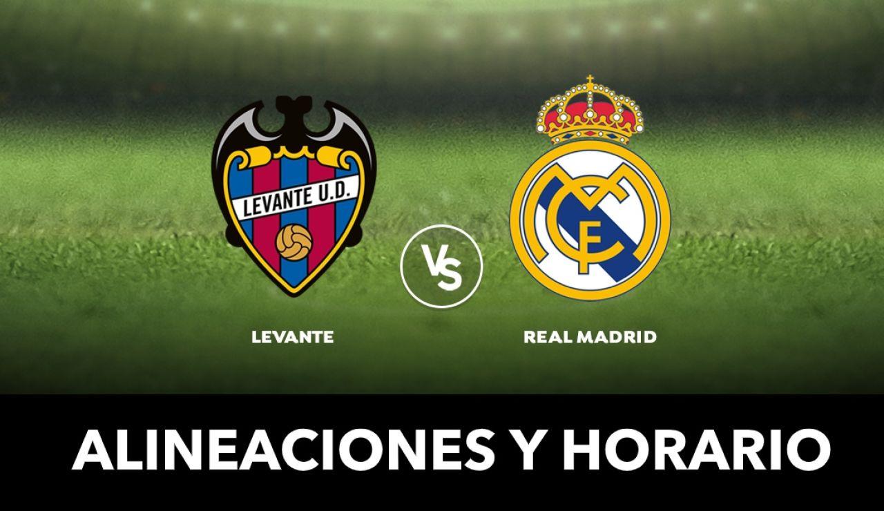 Levante - Real Madrid: Alineaciones y dónde ver el partido de Liga Santander en directo